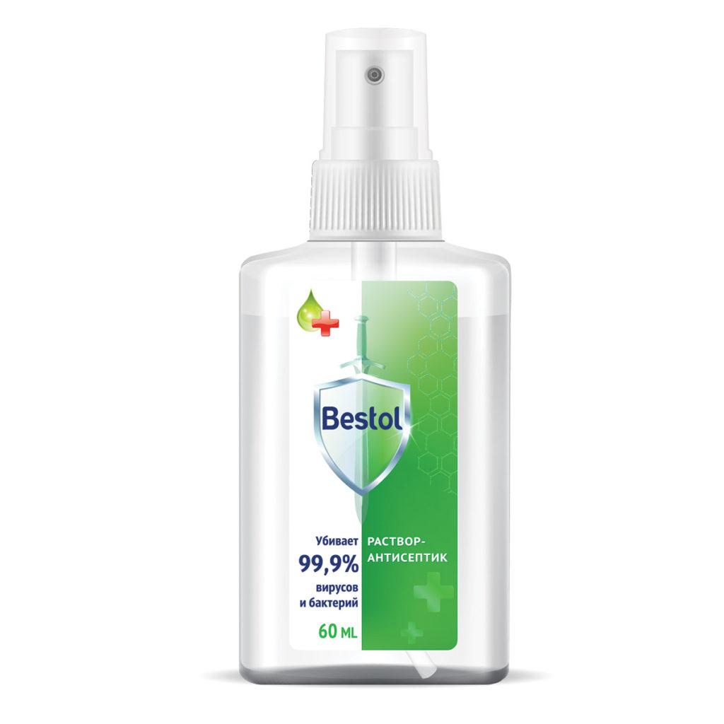 Bestol Средство дезинфицирующее, кожный антисептик, жидкость, 60 мл
