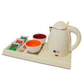 Чайный набор (белый) для гостиниц | Бифлекс
