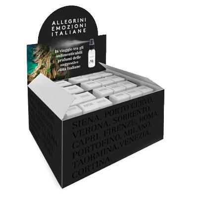 Коробка ароматизаторов EMOZIONI ITALIANE 24 шт. х 30 мл. (по 4 шт. каждого аромата) для гостиниц