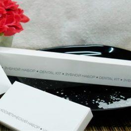 COOL GREY NEW Зубной набор в картонной упаковке для гостиниц