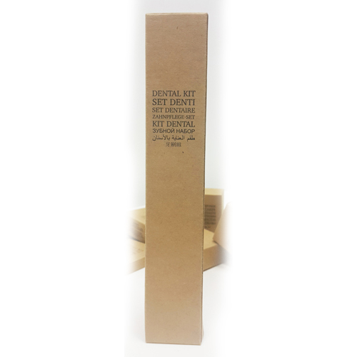 Зубной набор (зубная щетка 18см, зубная паста в тубе 5г) в картонной упаковке