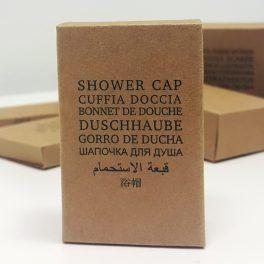 Шапочка для душа в картонной упаковке для гостиниц