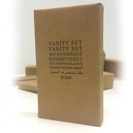 Косметический набор (3 ватных диска, 3 ватных палочки, пилочка) в картонной упаковке для гостиниц