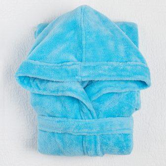 Детский халат голубой