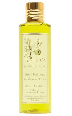 Oliva DEL MEDITERRANEO гель для волос и тела 200 мл для гостиниц