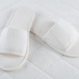 Вафельные тапочки 5 мм открытый мыс для гостиниц